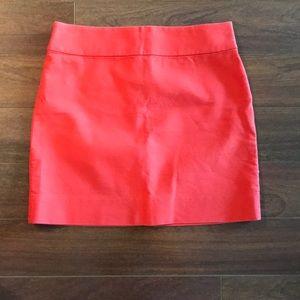 j crew cotton mini skirt